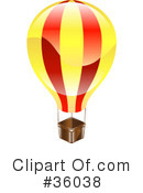 Royalty-Free (RF) Hot Air Balloon Clipart Illustration #36038