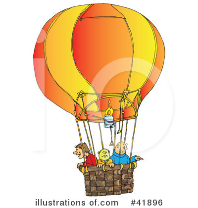 Royalty-Free (RF) Hot Air Balloon Clipart Illustration by Snowy - Stock Sample #41896