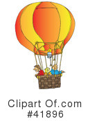 Royalty-Free (RF) hot air balloon Clipart Illustration #41896
