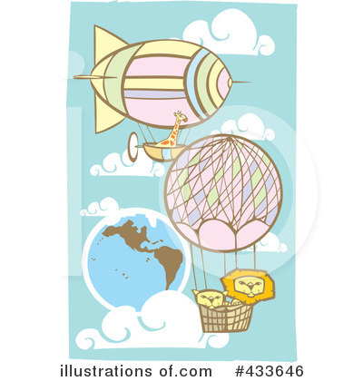 Royalty-Free (RF) Hot Air Balloon Clipart Illustration by xunantunich - Stock Sample #433646