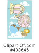 Royalty-Free (RF) hot air balloon Clipart Illustration #433646