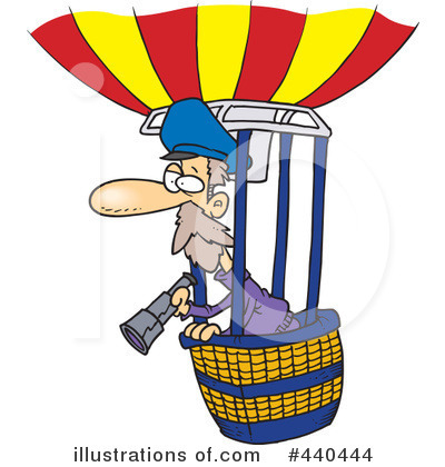 Hot Air Balloon Clipart #440444 by toonaday