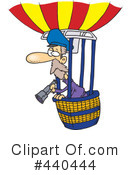 Royalty-Free (RF) Hot Air Balloon Clipart Illustration #440444