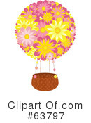 Royalty-Free (RF) Hot Air Balloon Clipart Illustration #63797