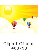 Royalty-Free (RF) Hot Air Balloon Clipart Illustration #63798