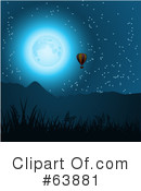 Royalty-Free (RF) Hot Air Balloon Clipart Illustration #63881