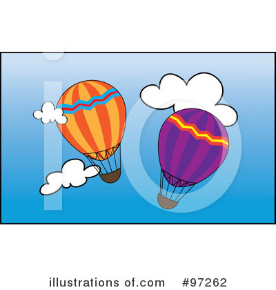 Royalty-Free (RF) Hot Air Balloon Clipart Illustration by Pams Clipart - Stock Sample #97262