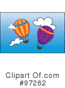 Royalty-Free (RF) Hot Air Balloon Clipart Illustration #97262