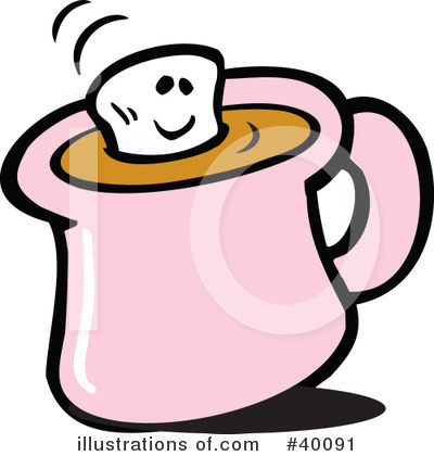 Royalty-Free (RF) Hot Chocolate Clipart Illustration by Johnny Sajem - Stock Sample #40091
