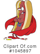 Royalty-Free (RF) Hot Dog Clipart Illustration #1045897