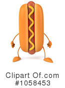 Royalty-Free (RF) Hot Dog Clipart Illustration #1058453