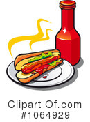 Royalty-Free (RF) Hot Dog Clipart Illustration #1064929