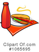 Royalty-Free (RF) Hot Dog Clipart Illustration #1065695