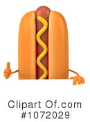 Royalty-Free (RF) Hot Dog Clipart Illustration #1072029