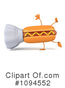 Royalty-Free (RF) Hot Dog Clipart Illustration #1094552