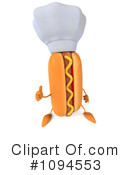 Royalty-Free (RF) Hot Dog Clipart Illustration #1094553