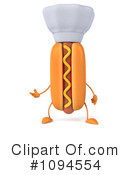 Royalty-Free (RF) Hot Dog Clipart Illustration #1094554