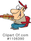 Royalty-Free (RF) Hot Dog Clipart Illustration #1106390