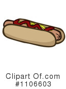 Royalty-Free (RF) Hot Dog Clipart Illustration #1106603