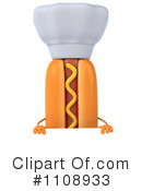 Royalty-Free (RF) Hot Dog Clipart Illustration #1108933