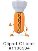 Royalty-Free (RF) Hot Dog Clipart Illustration #1108934