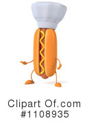 Royalty-Free (RF) Hot Dog Clipart Illustration #1108935