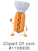 Royalty-Free (RF) Hot Dog Clipart Illustration #1108936