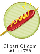 Royalty-Free (RF) Hot Dog Clipart Illustration #1111788