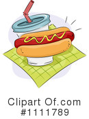 Royalty-Free (RF) Hot Dog Clipart Illustration #1111789