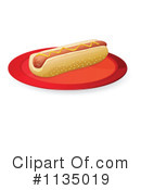 Royalty-Free (RF) Hot Dog Clipart Illustration #1135019