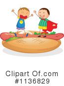 Royalty-Free (RF) Hot Dog Clipart Illustration #1136829