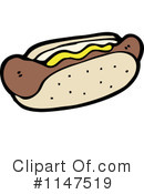 Royalty-Free (RF) Hot Dog Clipart Illustration #1147519