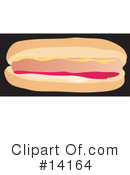 Royalty-Free (RF) Hot Dog Clipart Illustration #14164