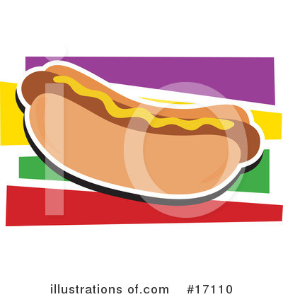 Royalty-Free (RF) Hot Dog Clipart Illustration by Maria Bell - Stock Sample #17110