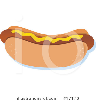 Royalty-Free (RF) Hot Dog Clipart Illustration by Maria Bell - Stock Sample #17170
