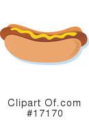 Royalty-Free (RF) Hot Dog Clipart Illustration #17170