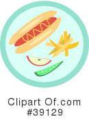 Royalty-Free (RF) Hot Dog Clipart Illustration #39129