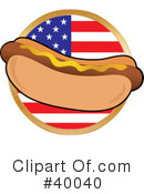 Royalty-Free (RF) Hot Dog Clipart Illustration #40040