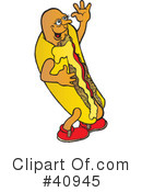 Royalty-Free (RF) Hot Dog Clipart Illustration #40945