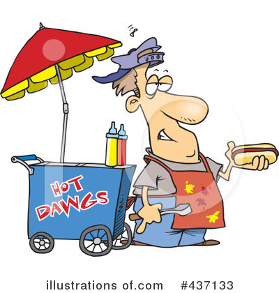 Royalty-Free (RF) Hot Dog Clipart Illustration by Ron Leishman - Stock Sample #437133