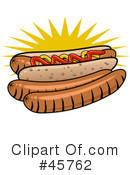 Royalty-Free (RF) Hot Dog Clipart Illustration #45762