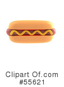 Royalty-Free (RF) Hot Dog Clipart Illustration #55621