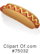 Royalty-Free (RF) Hot Dog Clipart Illustration #75032