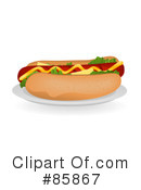 Royalty-Free (RF) Hot Dog Clipart Illustration #85867