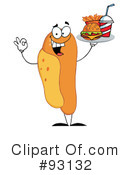 Royalty-Free (RF) Hot Dog Clipart Illustration #93132