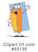 Royalty-Free (RF) Hot Dog Clipart Illustration #93135