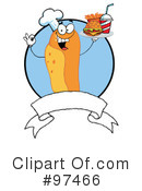 Royalty-Free (RF) Hot Dog Clipart Illustration #97466