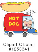 Royalty-Free (RF) Hot Dog Vendor Clipart Illustration #1253341