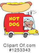 Hot Dog Vendor Clipart #1253343 by Hit Toon