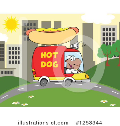 Food Truck Clipart #1253344 by Hit Toon